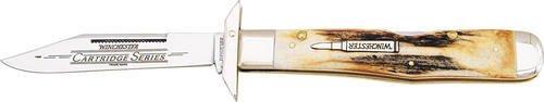 Winchester Knives 15121 Cartridge Series Folding Guard Lockback Knife W Stag Handles