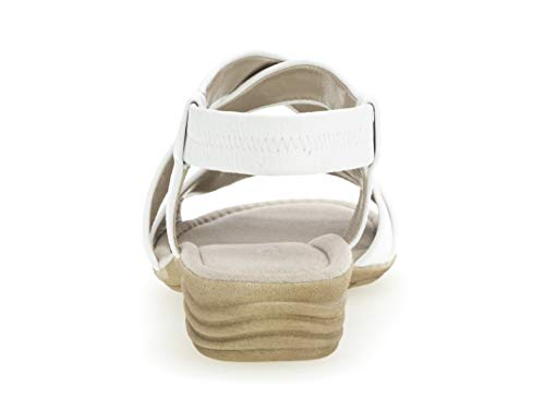übergrößen best Mujer Weiss Fitting plana Del De 550 Verano sandalias 24 Cuña sandalias zapatos sandalias cómodo Gabor Cuña q6wHExZanT