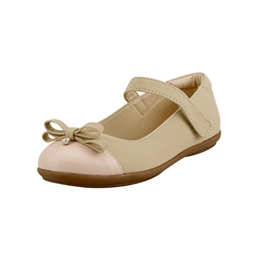 The Doll Maker Two Tone Ballet Flat - FBA1631126A-3 Nude