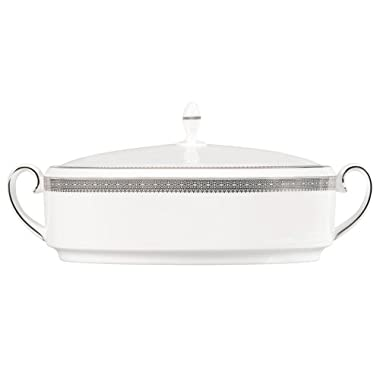 Vera Wang by Wedgwood Vera Lace 1.5-Quart Covered Vegetable
