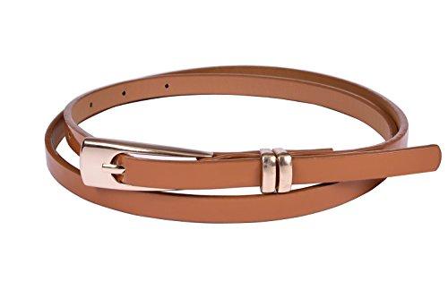 Viishow Womens Adjustable Leather Belts Fashion Skinny Minimalism Waist Strap