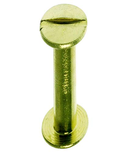 Chicago Screws Chicago Screws Brass Binding Screws 10 Psc #8-32 X 1