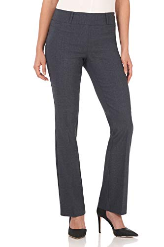Rekucci Women's Ease in to Comfort Fit Barely Bootcut Stretch Pants (4SHORT,Indigo Tartan)
