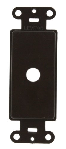 Leviton Decora Blank Insert - Leviton 80400 Decora Plastic Adapter For Rotary Dimmers, Brown
