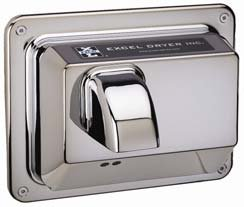 Automatic Recessed Mounted 110 / 120 Volt Hand Dryer in Chrome