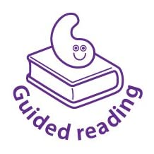 18mm Bookworm marking stamp 'Guided Reading'