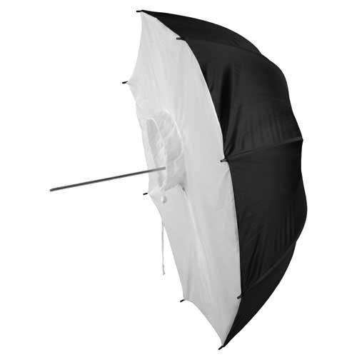 Fotodiox Premium Grade Studio Umbrella Softbox 43in (100cm) Black and Silver Reflective Interior with Neutral White Shoot-Through Cover by Fotodiox