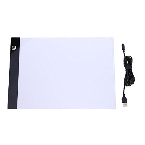 amyove Tablet digital A4LED artista fino arte plantilla dibujo caligrafía y pintura Junta caja de luz de intensidad...