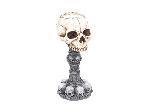 (Nemesis Torch of Torture Tea Light Holder - Skull Gothic Candle Holder)
