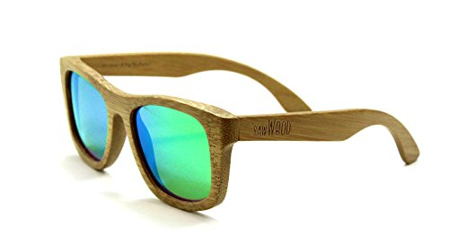 RawWood Lakers Natural/Green Polarized Bamboo Wood - Sunglasses Same Made By Company Are The