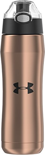 Under Armour Beyond 18 Ounce Stainless Steel Water Bottle, Rose Gold