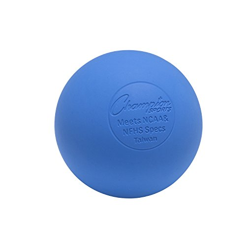 Champion Sports Colored Lacrosse Balls: Blue Official Size Sporting Goods Equipment for Professional, College & Grade School Games, Practices & Recreation - NCAA, NFHS and SEI Certified - Multi Count (Blue Ball Bucket)