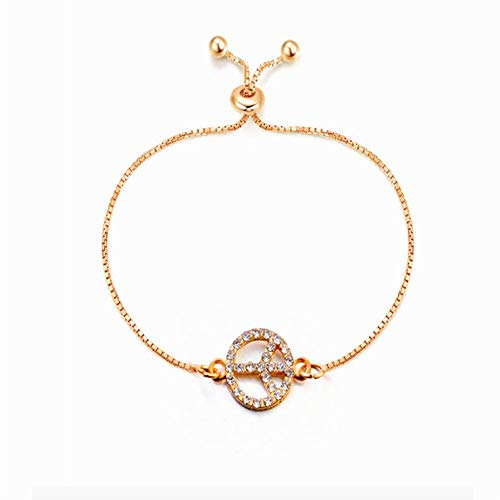 Price comparison product image MNEFEL Hand Catenary Damen Crystal Armband Bangle Adjustable Armband Schmuck Brautjungfer Geschenk