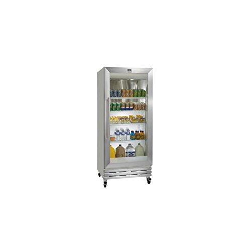 kelvinator-kcgm180rqy-gray-18-cu-ft-glass-swing-door-merchandiser