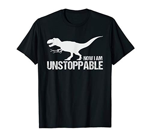 Now I Am Unstoppable Funny T-Rex Claw Grabbers Dinosaur T-Shirt