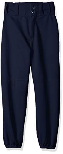 Alleson Ahtletic Boys Youth Elastic Bottom Baseball Pants, Navy, Medium