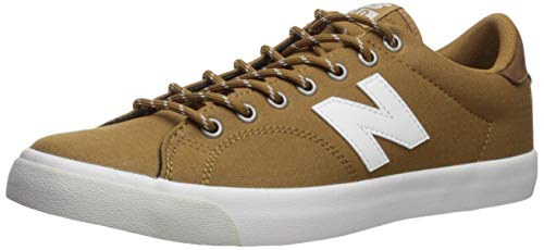 New Balance Men's 210v1 Skate Shoe Sneaker, Brown/White, 7.5 D US