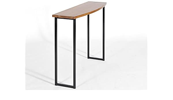 Amazon.com: Grace Console, Walnut and Steel Table with Curved top