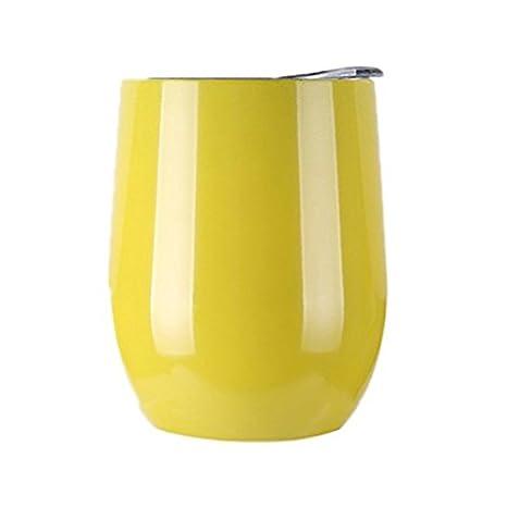 Vaso de vino de acero inoxidable con tapa, doble pared ...