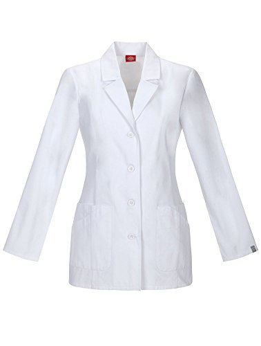 - Dickies 84405A Women's 29-in Antimicrobial Lab Coat White XX-Large