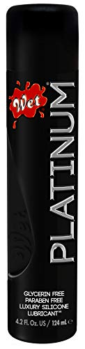Wet Platinum Lube - Premium Silicone Based Personal Lubricant, 4.2 Ounce