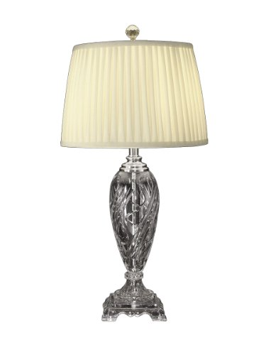 (Dale Tiffany GT10231 Crystal Table Lamp, Nickel and Fabric Shade)