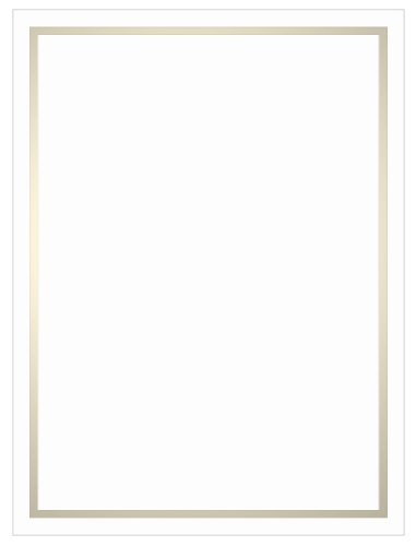 Pearl Foil Invitation, Flat Card 5x7, Radiant White Cardstock, 80lb, 50 Pack
