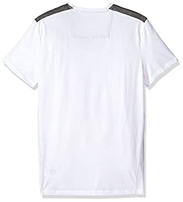 Calvin Klein Men's Short Sleeve T-Shirt With V-Neck and Woven Chest Design