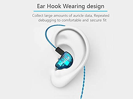 Noise Isolating with Dynamic in Ear Earbuds HiFi Stereo Headphones with 2 Pin 0.78mm Detachable Cable. 1DD Hybrid Triple Drivers Wired earphones RevoNext RX8S in-Ear Headphones,2BA red With Mic