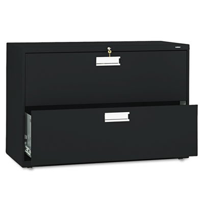 HON 692LP 600 Series Two-Drawer Lateral File, 42w x 19-1/4d, Black