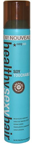 Sexy Hair Concepts Healthy Hair Soy Touchable Weightless Hairspray, 9.1 oz (Pack of 3)