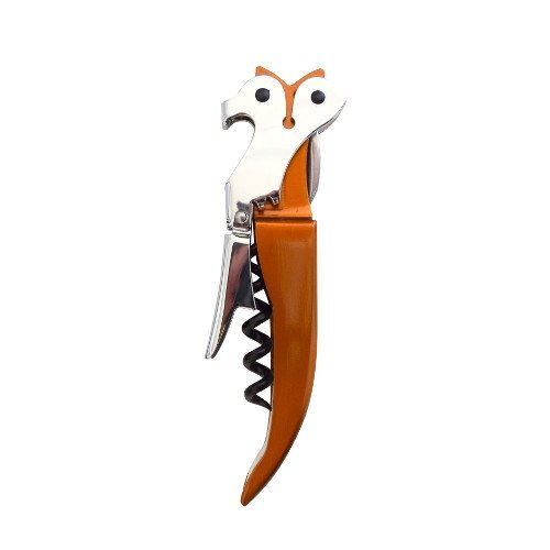 CKB Ltd FOX BOTTLE OPENER Themed Professional Waiters Corkscrew Wine Bottle Opener | Stainless Steel with Black Silicone Handle Foil Cutter | Novelty Design