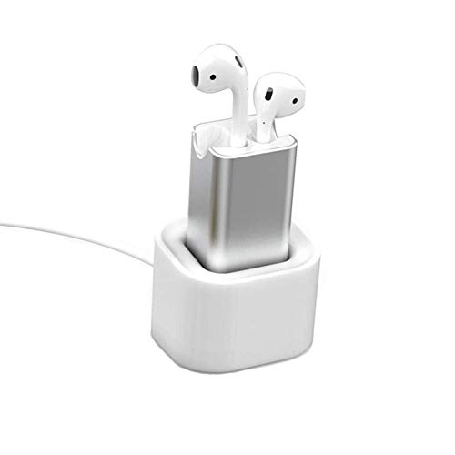Fastest Charging Adapter Compatible with AirPods, POWVAN 15 Minutes Fast Charging Adapter for Air Pods Headphones Desk Charger with Stand Holder ()