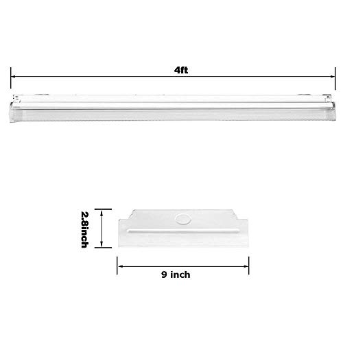 FaithSail 60W LED Wraparound Light 4FT LED Office Lights, 6600 Lumens 4000K, 4 Foot Flush Mount LED Wrap Shop Puff Ceiling Lighting Fixtures for Garage Workshop, Fluorescent Light Replacement, 4 Pack by FAITHSAIL (Image #5)