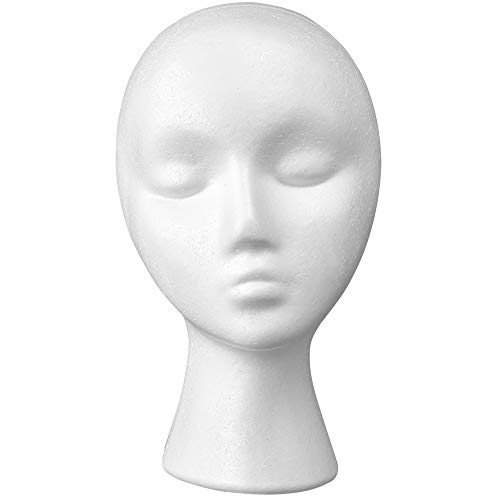 Child Sized Wig Hair - 12'' Inch Styrofoam Female Wig Head Mannequins Manikin, Style, Model & Display Women's Wigs, Hats & Hairpieces Stand - by Adolfo Designs