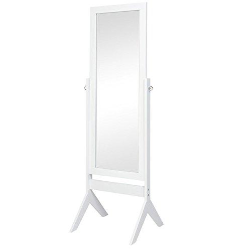 Floor Mirror Bedroom Home Furniture- White (Stage Makeup Melbourne)
