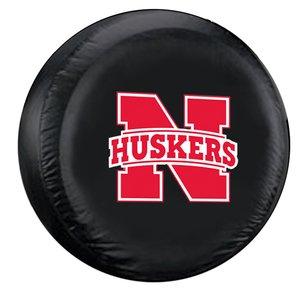 Nebraska Cornhuskers NCAA Spare Tire Cover (Standard) (Black) ()