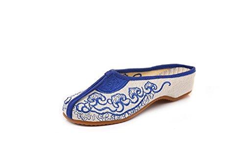 Bleu Femme Lazutom Lazutom Pour Chaussons Pour Chaussons nw8xPF6