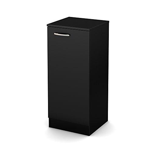 Cabinet Wood Narrow (South Shore Axess Narrow Storage Cabinet, Pure Black)