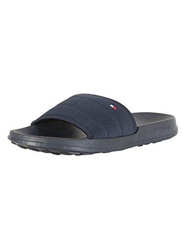 Tommy Hilfiger Men's Corporate Flag Pool Side Flip Flops, Blue, 10/11 - Buy Hilfiger Tommy