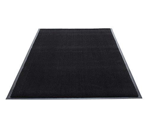Guardian Silver Series Indoor Walk-Off Floor Mat, Vinyl/Polypropylene, 4'x6', Black