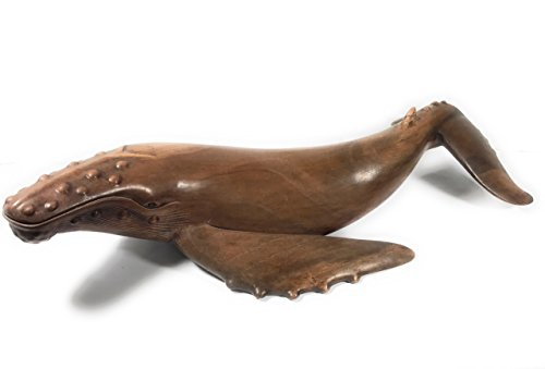 Exquisite Hawaiian Humpback Whale 40'' - Hand Carved | #dal12 by TikiMaster