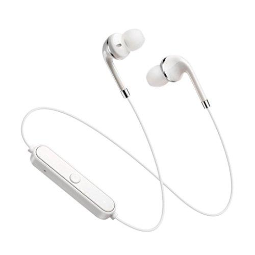 Bluetooth Headset,Sunfei Bluetooth 4.1 Stereo Earphone Headset Wireless In-Ear Earbuds Headphone (White)
