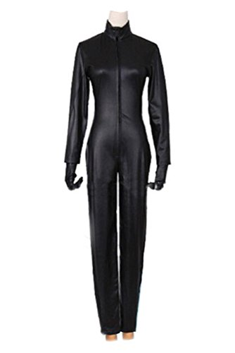 Celty Sturluson Cosplay Costume (XCOSER Celty Cosplay Costume Zentai Jumpsuit for Womens Halloween Black CM)