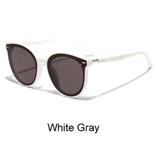 Uv400 Surdimensionnées Pour Lunettes Hommes Tone De nbsp;de Femmes White Ysfu Soleil Lunettes Fashion Gray Black nbsp;soleil BwYR7q