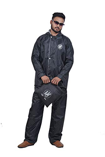 Apex Brand Men Series Water Resistant Pant Shirt Raincoat with adjustable hood , with reflector logo at back for night visiblity. Pack Contains Top , Bottom and storage bag. Avaliabe in colous (Blue /Black / Brown /Grey)