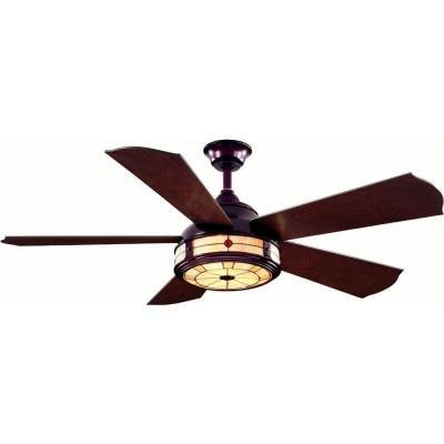 "Hampton Bay Savona AC386-WB 52"" Weathered Bronze Ceiling Fan with Handheld Remote Control by Hampton Bay"