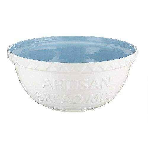 Mason Cash Baker's Authority S12 (29cm) Chip Resistant Earthenware Mixing Bowl, Ceramic, Cream/Blue, 29 x 29 x 14 cm
