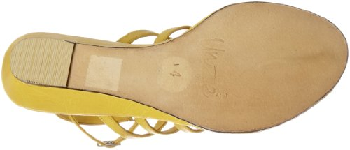 Unze Evening Sandals L18314W - Sandalias para mujer Amarillo
