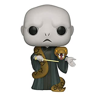 "Funko Pop! Harry Potter: Harry Potter- 10"" Voldemort with Nagini, Multicolor, Model:48037"